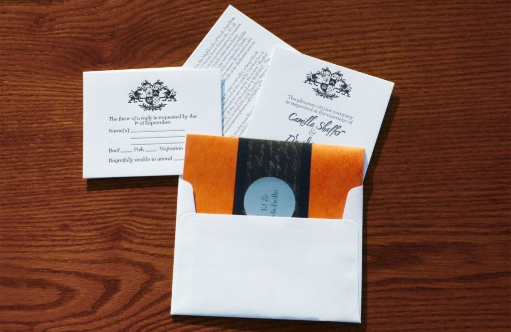 shaffer-hayes event wedding invitation envelop