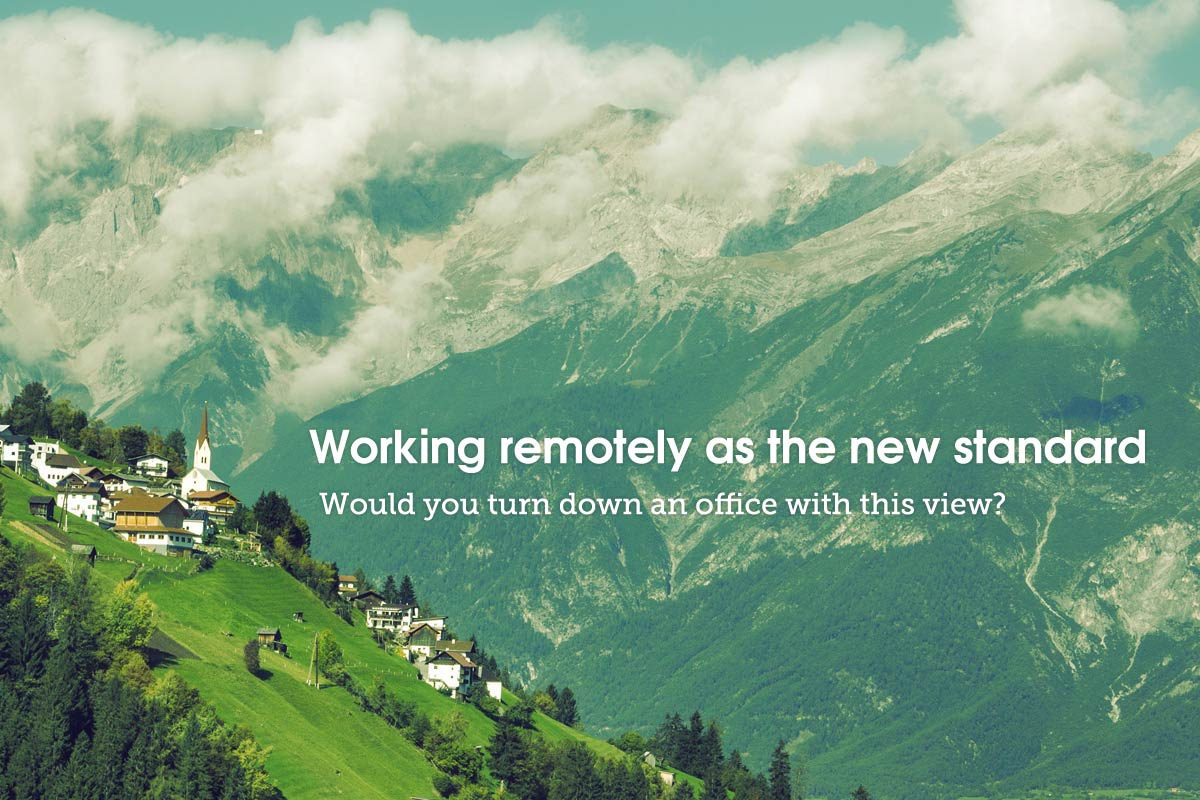 working remotely as the new standard