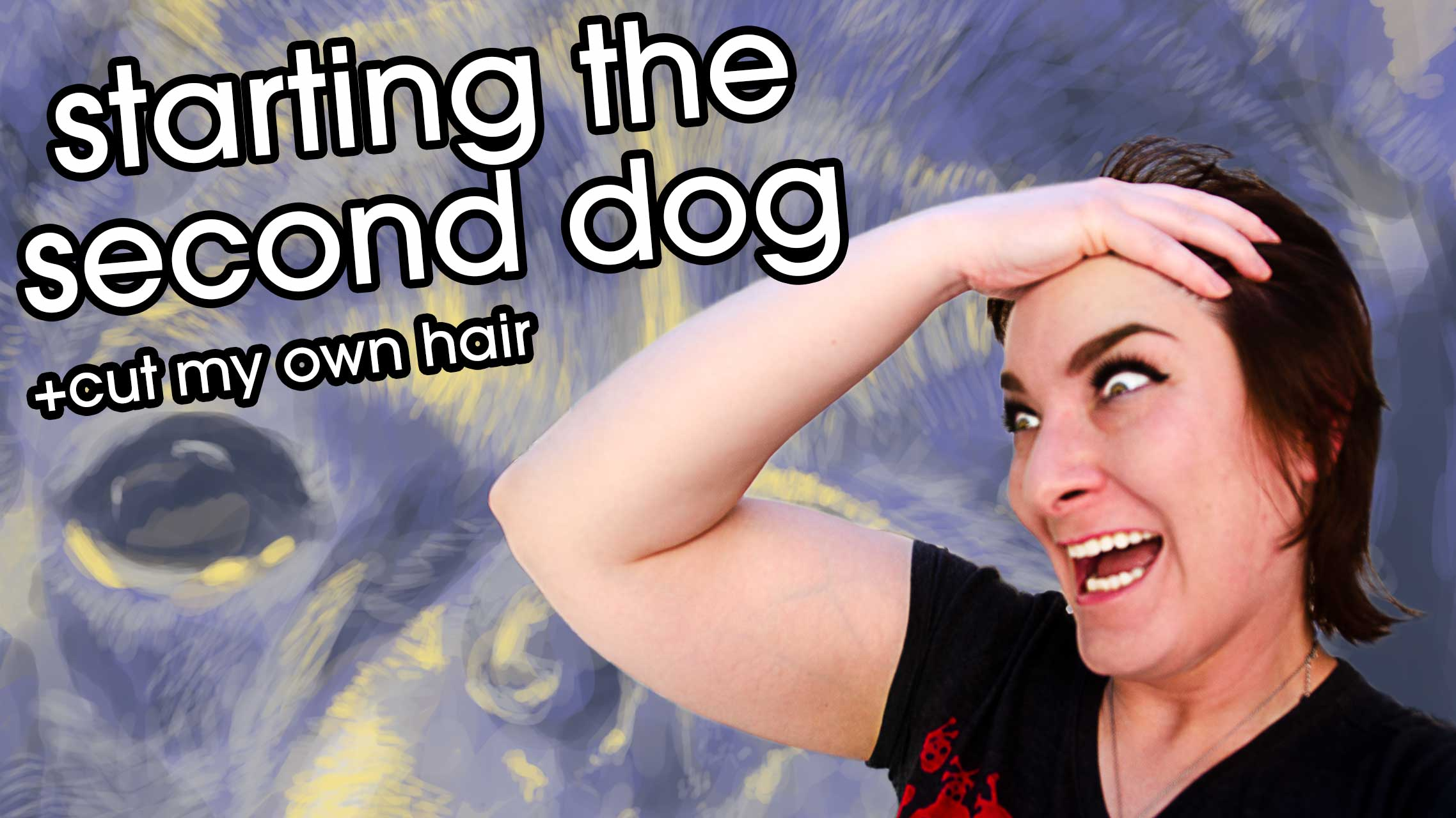 Vlog Cover: Starting the Second Dog +Cut My Own Hair